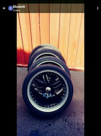 "17"" IKON RIMS AND TIRES $400.00 OBO Halton Hills, L7G 5X6"
