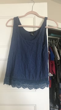 Small blue forever 21 top