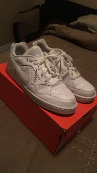 Nike son of force all white shoes