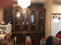 Large China cabinet for storage