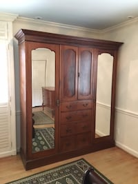 brown wooden cabinet with mirror Washington