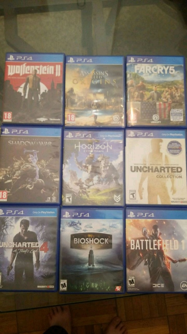PS4 Game Bundle (9+1)