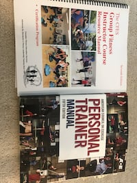 Brand new ACE personal trainer book 5th edition and GROUP FITNESS trainer book