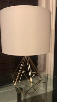 Small Table Lamp White Shade New York, 11368