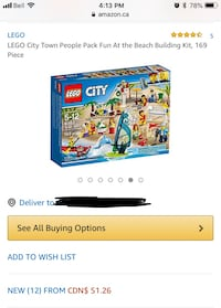 LEGO City Town People Pack Fun At the Beach Building Kit, 169 Piece Markham, L3S