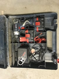 Bosch 14V cordless drill with batteries