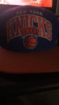 Blue and orange New York knicks mitchell and ness SnapBack . Great condition  Pico Rivera, 90660
