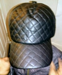 Faux leather quilted snap back hat Norristown, 19401