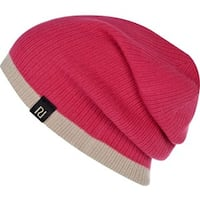 PINK RIBBED CONTRAST TRIM BEANIE Burnaby