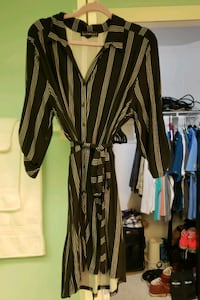Black and white stripped dress, high-low style. Size XL.