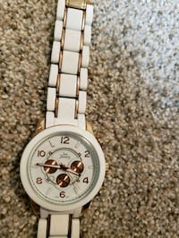 round silver chronograph watch with link bracelet Rockville, 20855