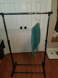 Collapsible clothing rack.
