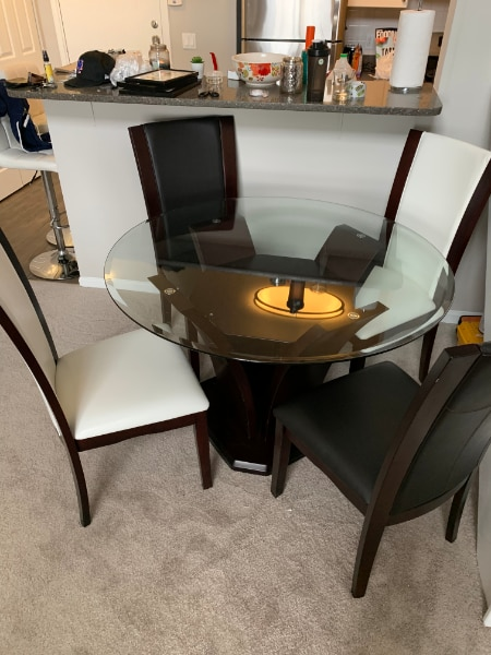 used brand new 5pc dining set from raymour flanigan for sale in rh gb letgo com