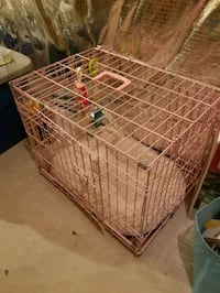 Small Pink dog crate