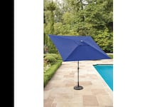 hometrends rectangular umbrella 9ft x6ft( base not included)