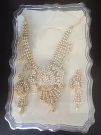 Necklace and earrings set $15 Calgary, T3J 2W7