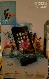 black and red Lifeproof iPhone case Sherman, 75092