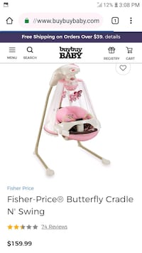 baby's white and pink cradle n swing screenshot Price, 84501