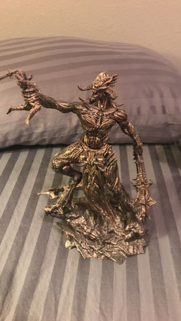 Molag-Bal Deadric print statue from ESO's collectors edition