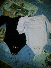 baby's two black and white long-sleeved onesies Salt Lake City, 84123