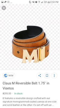 black and brown Gucci leather belt screenshot Toronto, M3C 1B3