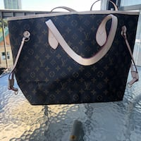 black and brown Louis Vuitton leather tote bag Vancouver, V6P 2X3
