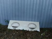 Nice 6 ft double shell sink