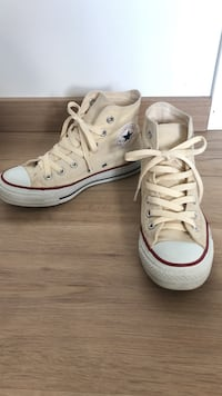 Par hvite converse high-top sneakers Sandnes, 4317