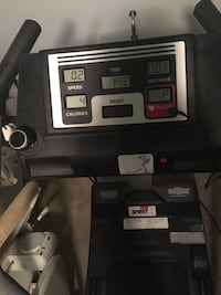 Black and gray elliptical trainer. Speed knob needs to be replaced but works anyway  Brantford, N3R 7N3