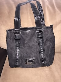 Black and gray leather tote bag Manor, 78653