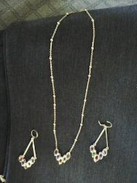 silver-colored necklace and earrings Los Angeles, 90002