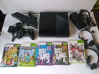 Xbox 360 E Console 500GB Kinect Controller 5 Games Whitchurch-Stouffville, L4A 0J5