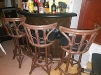 Vintage Bar and Stools from the 80s Virginia Beach, 23464