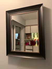 black wooden framed wall mirror Delta, V4C 1C4