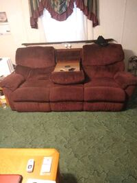 brown fabric 3-seat sofa Wirtz, 24184