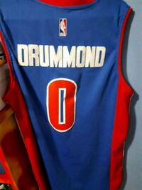 blue and red Adidas NBA jersey 552 km