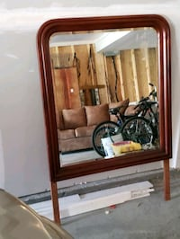 Solid wood framed mirror, wall or dresser mount New Whiteland, 46184