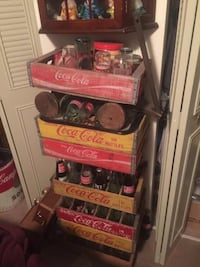 Coca-Cola crates glasses and bottles