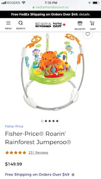 Fisher price rainforest jumperoo Mississauga, L5J 0A5