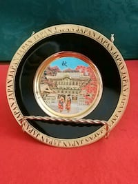 24K gold plated collectible plate, Japan