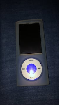 Blue iPod with see through case