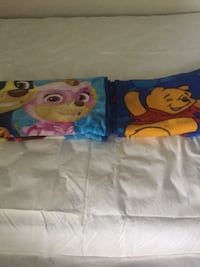 Winnie the Pooh blanket size 45X61 , Mighty pups blanket size 34X49 $5 each  Toronto