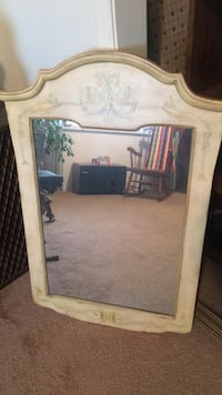 Rectangular mirror with white wooden frame Bakersfield, 93312
