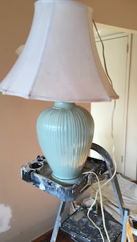 white and brown table lamp Whitby