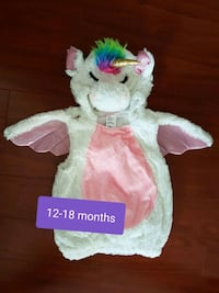 12-18 Months Unicorn Costume  Vancouver, V5P 1T6