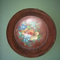 Vintage Tole painted metal bowl Hanover, 17331