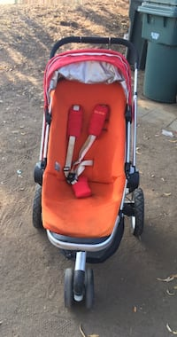 baby's red and black stroller Orangevale, 95662