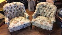 White and blue Antique floral sofa chairs  North Charleston, 29420