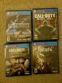 four assorted PS4 game cases Newark, 94560