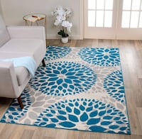 Area Rug 5 x 7 Floral Circle Design Laurel, 20707